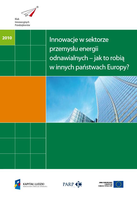 Innowacje w sektorze  przemysłu energii  odnawialnych