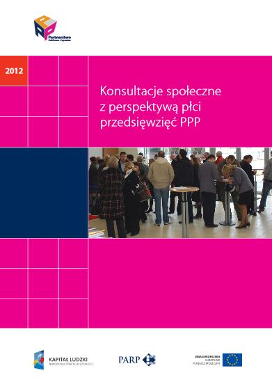 Konsultacje społeczne z perspektywą płci przedsięwzięć PPP