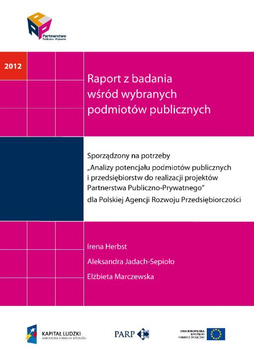 PPP. Raport z badania wśród wybranych podmiotów publicznych