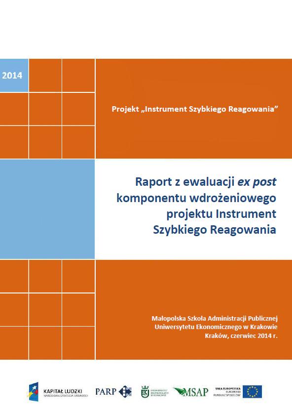 Raport z ewaluacji ex post komponentu wdrożeniowego projektu Instrument Szybkiego Reagowania
