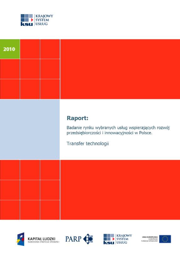 Badanie rynku wybranych usług wspierających rozwój przedsiębiorczości i innowacyjności w Polsce - Transfer technologii
