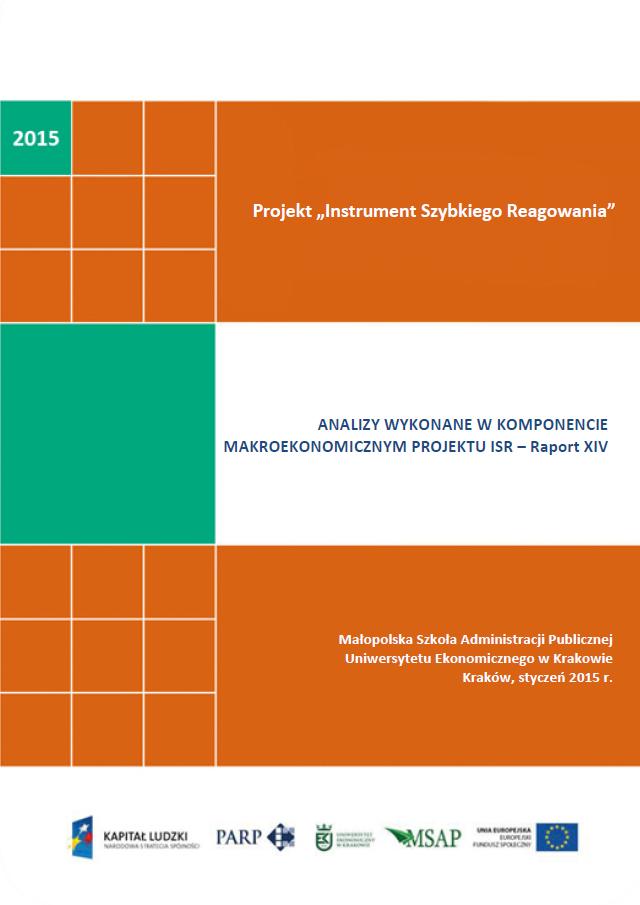 Komponent makroekonomiczny - Ocena stopnia zagrożenia przedsiębiorstw upadłością - XIV