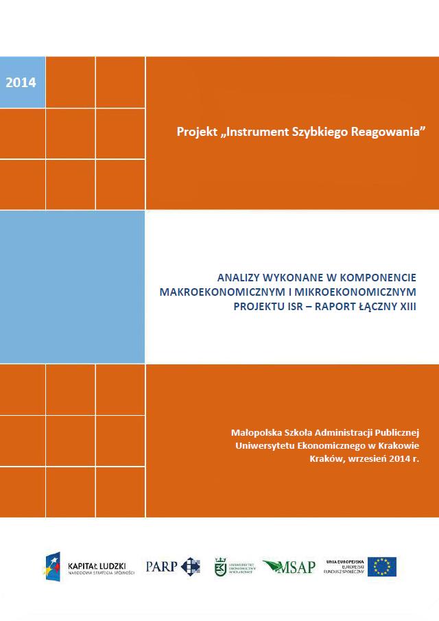 Analizy wykonane w komponentach mikroekonomicznym  i makroekonomicznym projektu ISR – XIII raport łączny