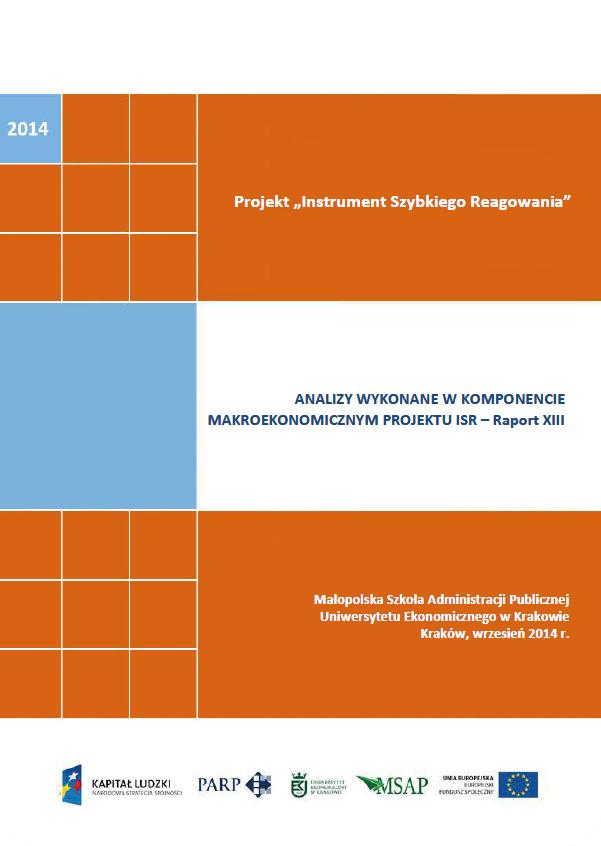 Komponent makroekonomiczny - Ocena stopnia zagrożenia przedsiębiorstw upadłością - XIII