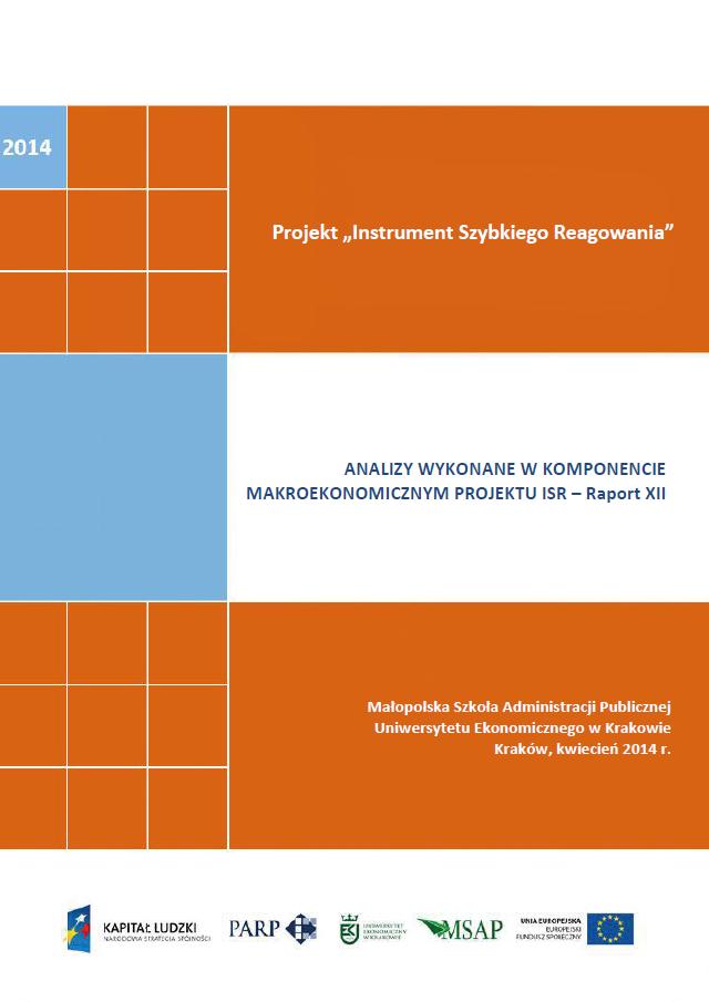 Komponent makroekonomiczny - Ocena stopnia zagrożenia przedsiębiorstw upadłością - XII