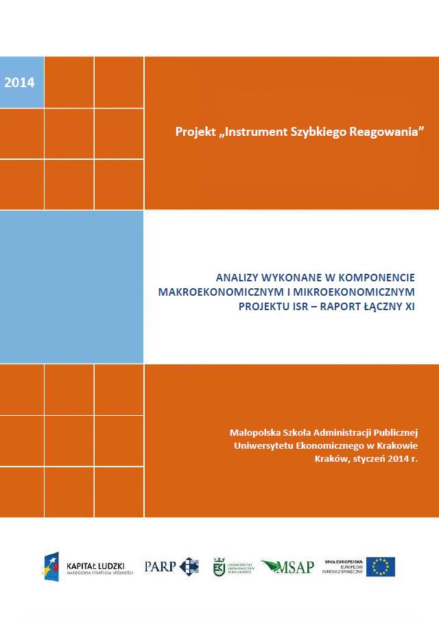 Analizy wykonane w komponentach mikroekonomicznym  i makroekonomicznym projektu ISR – XI raport łączny
