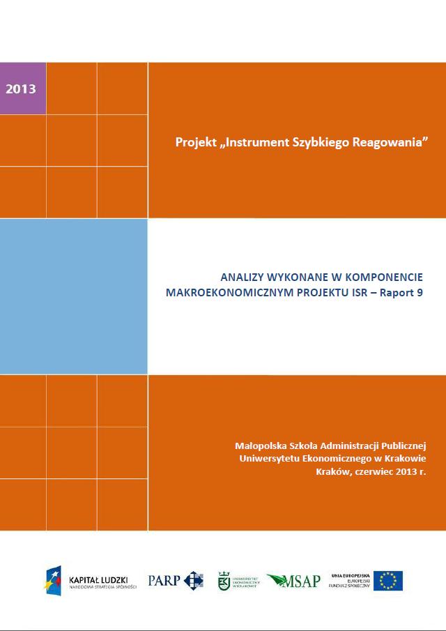Komponent makroekonomiczny - Ocena stopnia zagrożenia przedsiębiorstw upadłością - IX