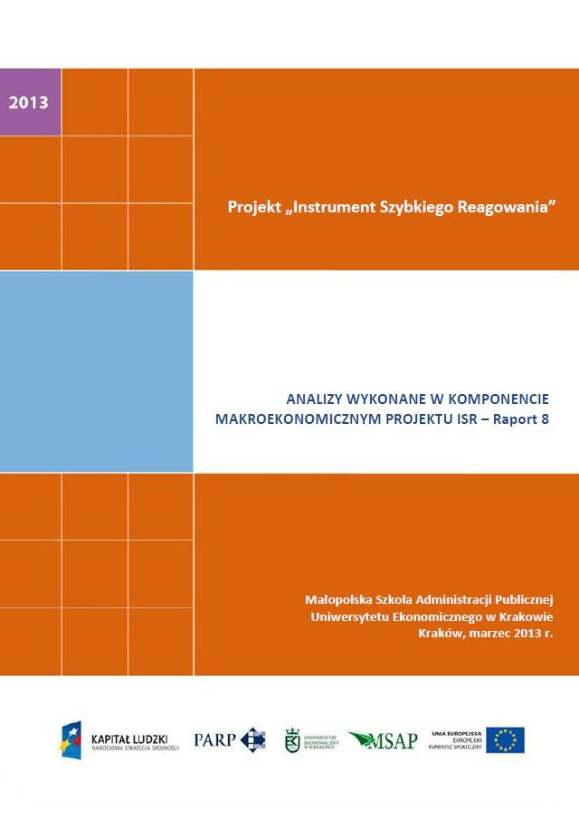 Komponent makroekonomiczny - Ocena stopnia zagrożenia przedsiębiorstw upadłością - VIII