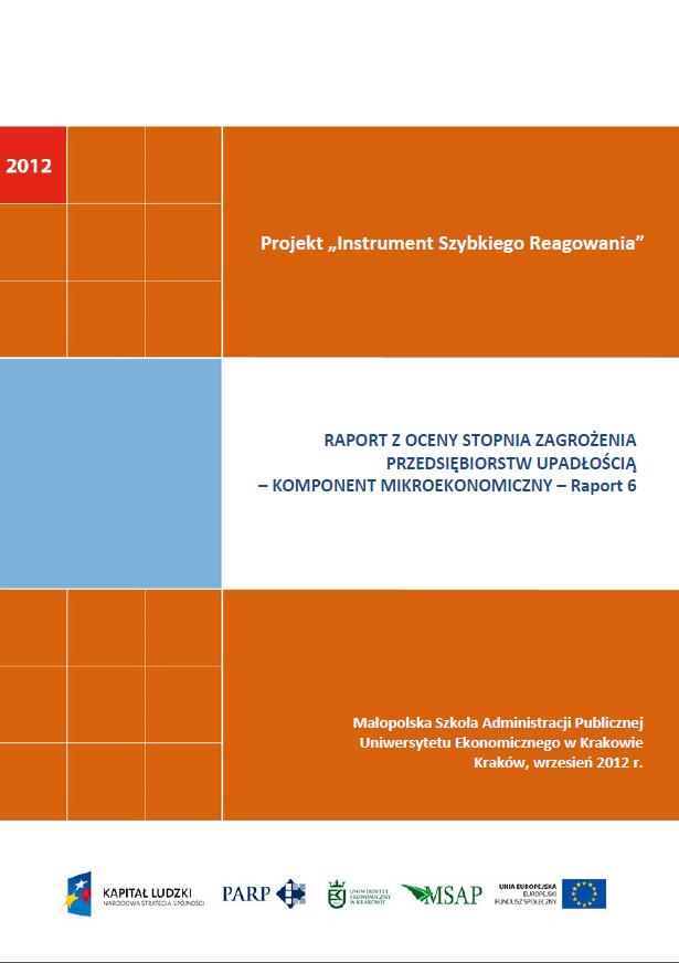 Komponent mikroekonomiczny - Ocena stopnia zagrożenia przedsiębiorstw upadłością - VI