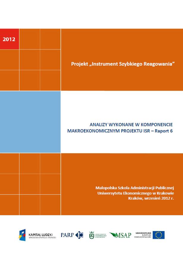 Komponent makroekonomiczny - Ocena stopnia zagrożenia przedsiębiorstw upadłością - VI