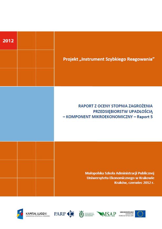 Komponent mikroekonomiczny - Ocena stopnia zagrożenia przedsiębiorstw upadłością - V