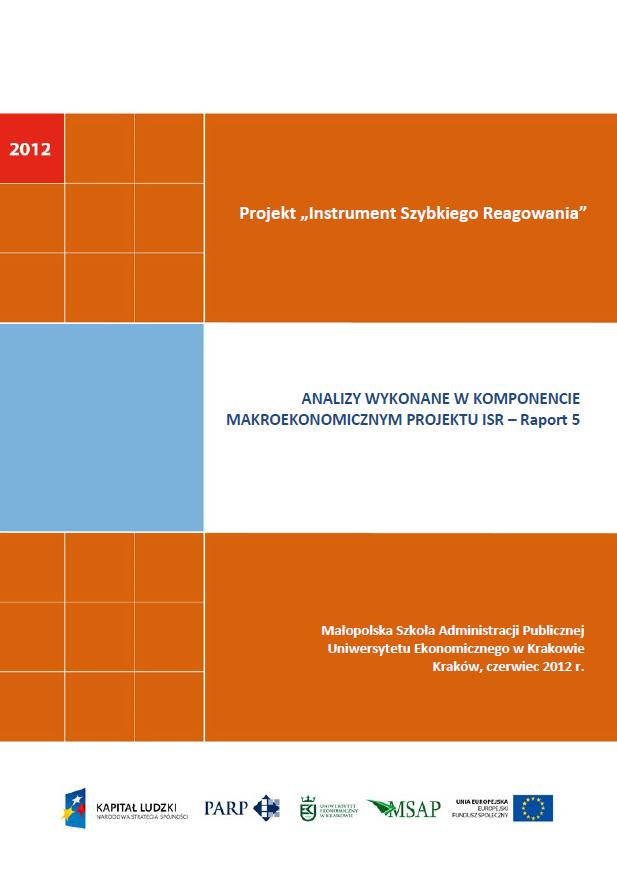 Komponent makroekonomiczny - Ocena stopnia zagrożenia przedsiębiorstw upadłością - V