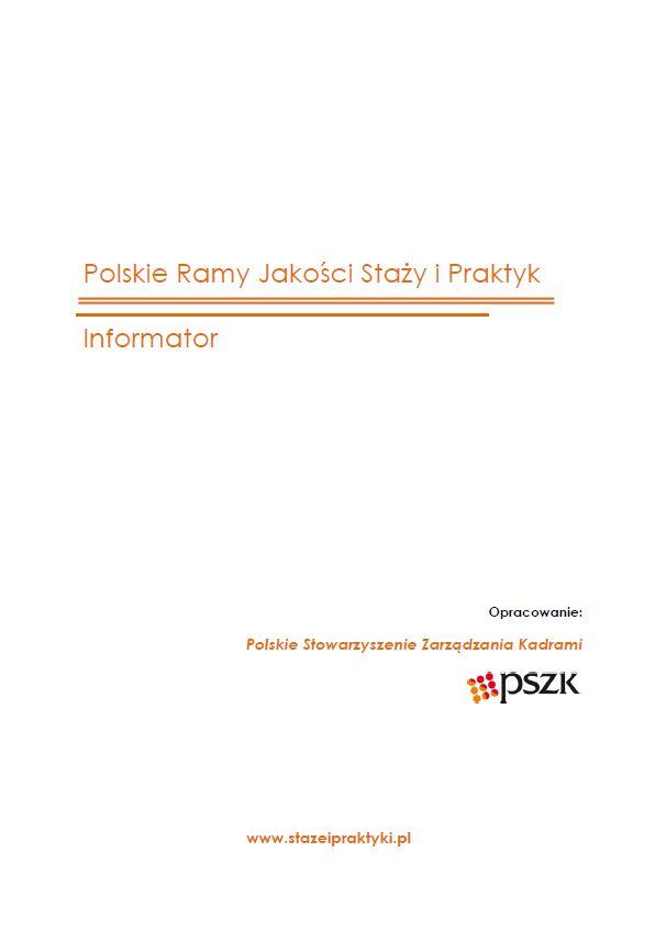 Polskie Ramy Jakości Staży i Praktyk - Informator