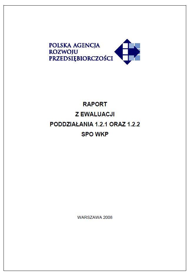 Ewaluacja poddziałania 1.2.1 i 1.2.2 SPO WKP