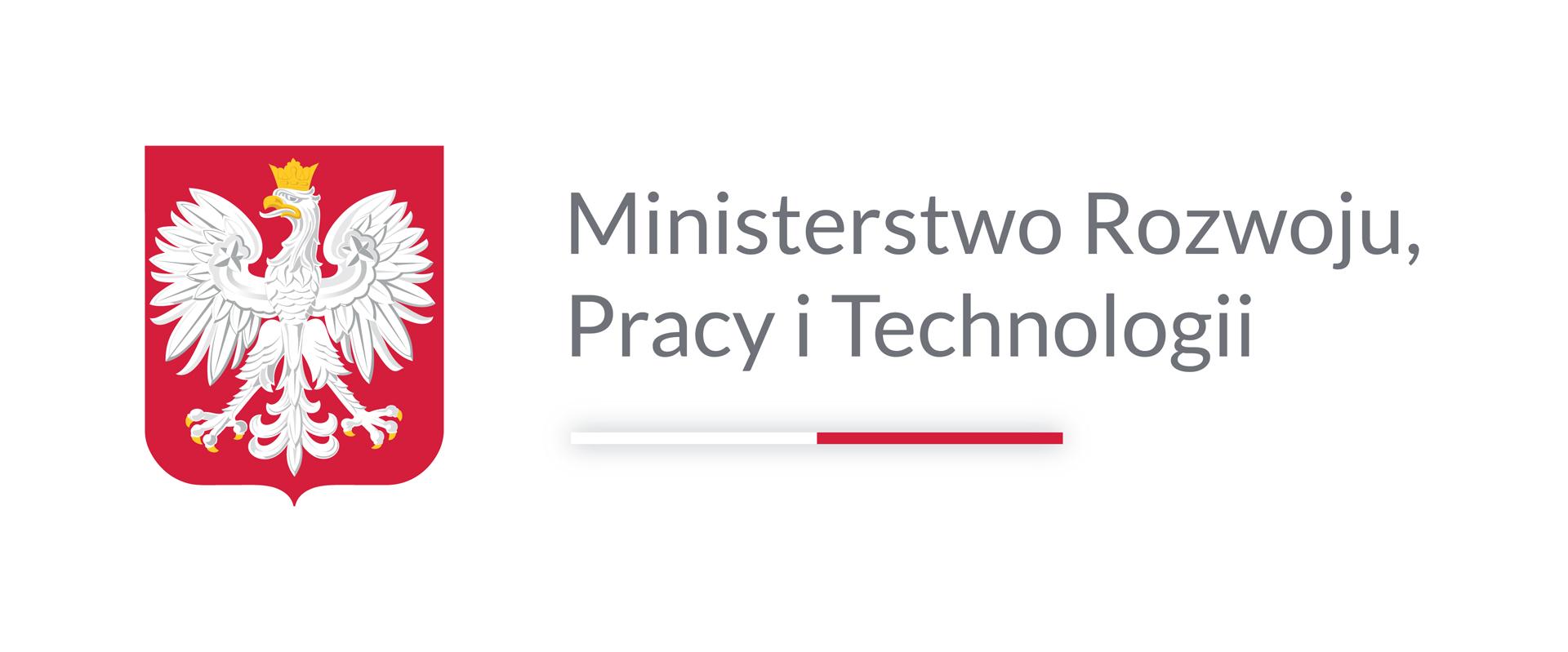 Logo Ministerstwa Rozwoju, Pracy iTechnologii