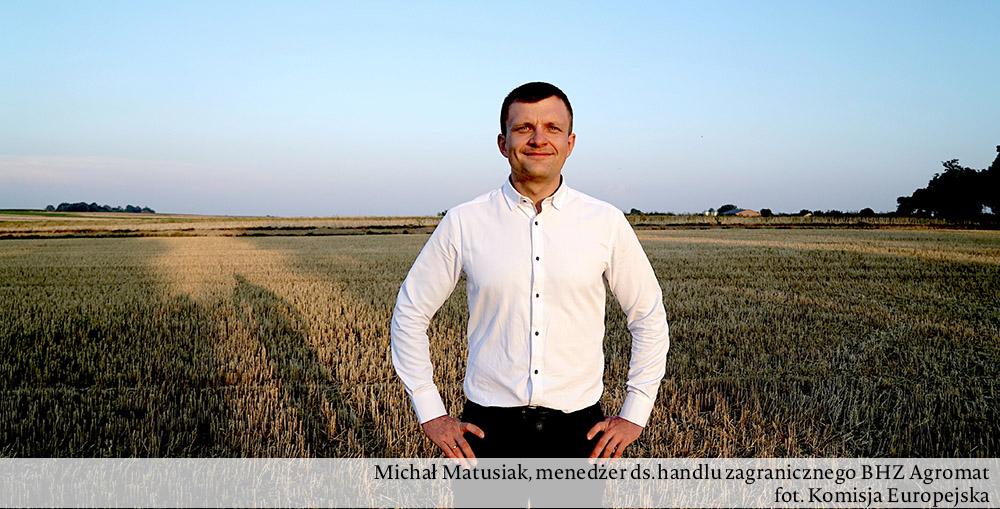 Zdjęcie Michała Matusiaka, menedżera ds. handlu BHZ Agromat
