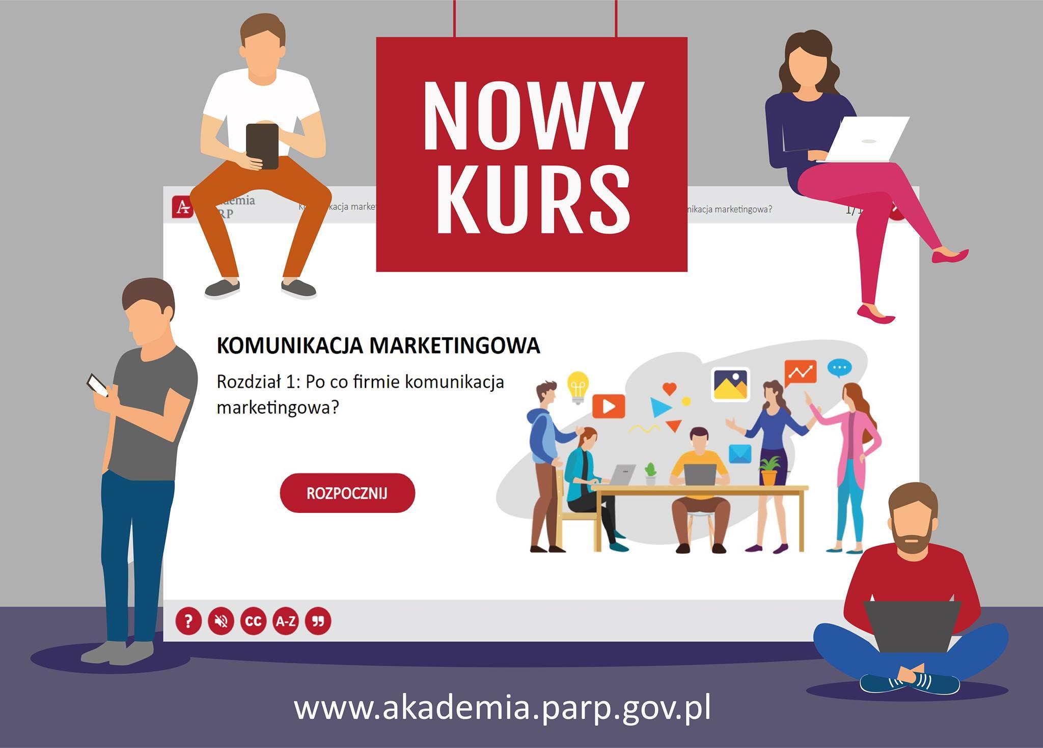 Nowy kurs, Komunikacja marketingowa, www.akademia.parp.gov.pl